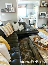 Black Leather Couch Decor Living Gray Living Room Decorating Ideas