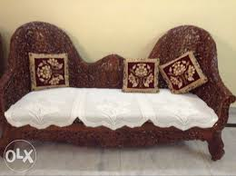 show only image antique wooden sofa set with