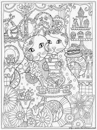 Colorare Per Adulti Disegno Due Gatti Amichevoli Da Colorare