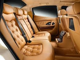 luxury car interior seats. Fine Interior Maserati Quattroporte Back Seat Diamond Tufted Upholstery In Luxury Car Interior Seats