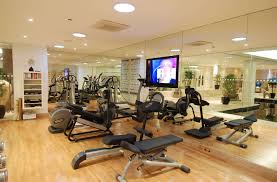 Decorations: Expansive Home Gym Ideas With Push-Up Equipment Application  Home Gym Ideas Healthy