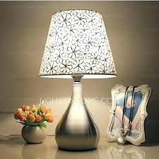 table lamps bedroom nightstand for of modern in fl patterned fabric plans canada