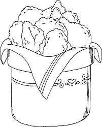 Bucket Full Of Drumstick Fried Chicken Coloring Pages Download