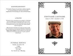 funeral flyer funeral flyer examples memorial brochure template sample funeral