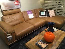 Strand - Plush Sofas Leather Lounge + Chaise w Contrast Stitching