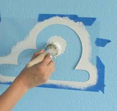 cloud stencil for toy story room set