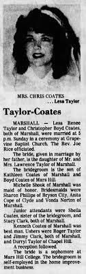 Christopher Coates/Lesa Taylor: Marriage - Newspapers.com