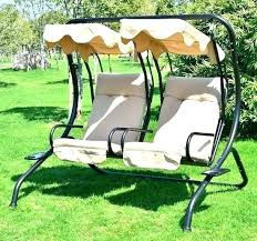 patio swing 2 person outdoor cover abba