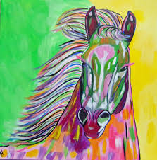 how to paint an abstract horse in acrylics for beginners sd painting