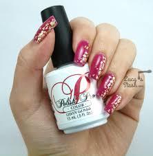 My Golden Leaf Gel Polish Nails For A Wedding + TUTORIAL - Lucy's ...