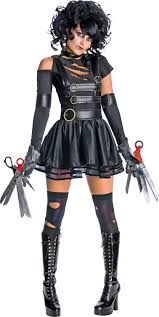 Captivating A Feminine Twist On The Undeniably Scary Edward Scissorhands Makes For A  Spooky Yet Sassy Halloween Costume   Available From Argos.