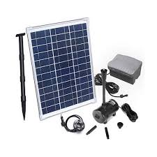 sho 20w solar power water feature pump kit with timer led lights crazy s