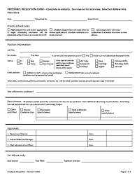 Employee Training Request Form Template