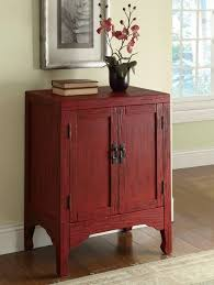 Image Storage Houzz Rustic Red Accent Cabinet With Doors