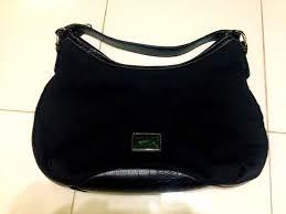 hand bag tommy hilfiger black leather hobo shoulder bag