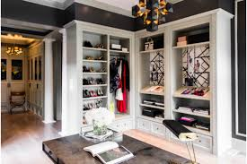 walk in wardrobe with desk space catherine kwong design