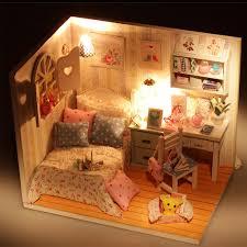 Miniature Dollhouse Bedroom Furniture Popular Miniature Bed Buy Cheap Miniature Bed Lots From China