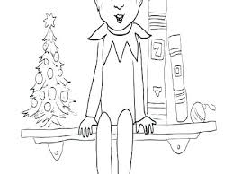Elf On The Shelf Coloring Page Elf On The Shelf Coloring Sheets