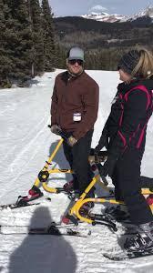 Megan and Asa Holland taking the... - Durango Snowbike