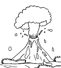 volcano coloring pages top free printable and sheet for kids adorable