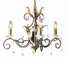 amarilli 3 light bronze gold chandelier elstead lighting