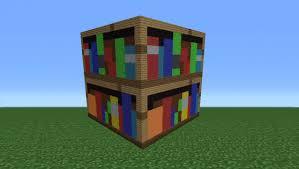 Minecraft Tutorial How To Make A Bookshelf Statue
