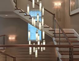 stairwell lighting. Tanzania Chandelier - Contemporary Living Room Stairwell Light Fixture Contemporary-staircase Lighting 9