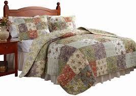 greenland home blooming prairie full queen quilt set