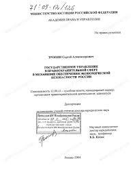 Диссертация на тему Государственное управление в  Государственное управление в правоохранительной сфере в механизме обеспечения экономической безопасности России тема диссертации и автореферата по ВАК
