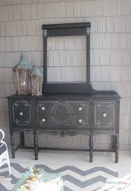 painting furniture whiteBuffet Makeover  Tips for Painting Furniture Black  Atta Girl Says