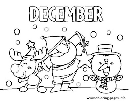 Small Picture December With Friends Coloring Pages Printable