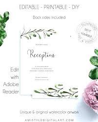 Reception Card Sample Wedding Reception Card Template Thank You