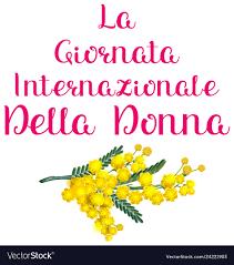 La giornata internazionale della donna italia Vector Image