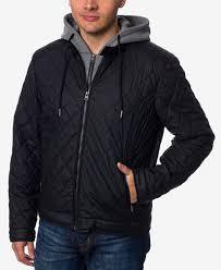 Buffalo David Bitton Men's Layered-Look Quilted Bomber Jacket ... & Buffalo David Bitton Men's Layered-Look Quilted Bomber Jacket Adamdwight.com