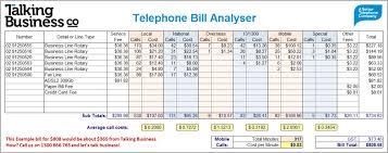 excel bill telephone bill analyser