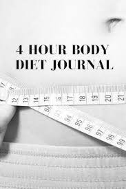 Personal Journaling 4 Hour Body Diet Journal Personal Weight Loss Diary To Write In For Women 6x9 120 Lined Journaling Pages