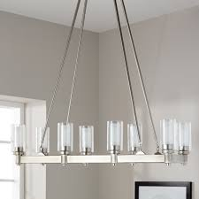 Circolo Brushed Nickel Eight Light Oval Chandelier Kichler Lighting Circolo Collection 8 Light Brushed Nickel Linear Chandelier