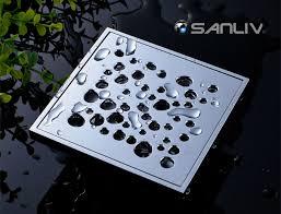 chromed brass square tile in shower drain fl10