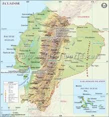 ecuador map map of ecuador