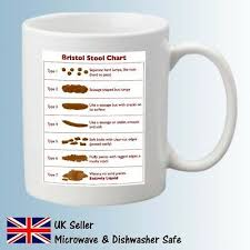 Bristol Stool Chart Mug Funny Tea Coffee Home Novelty Carer