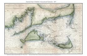 Nautical Charts New England Coast Old Nautical Charts Of Marthas Vineyard