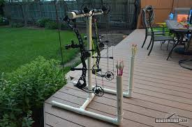 a quick and easy diy archery project this pvc bow stand safely holds 2 bows