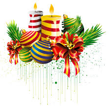 Transparent Christmas Ball and Candles Clipart Picture | Gallery ...