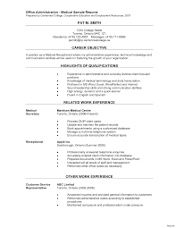 Resume Highlights Examples Insurance Clerk Resume Sample Com Mailroom Law Highlights And 53