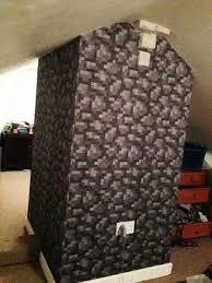 Cobblestone Wallpaper To Make Your Kids Room Look Just Like Minecraft. Fun  Minecraft Decor Ideas