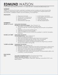 Automotive Technician Resume Template – Fluently.me