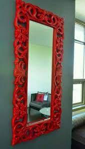 wall mirror colour rote