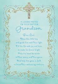 baptism cards blue cross baptism card for grandson