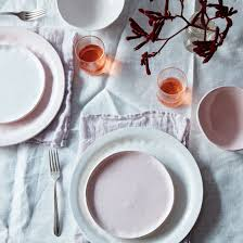 food pink textured porcelain dinnerware set by looks like white