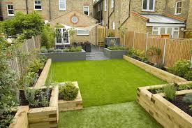 wimbledon family garden with formal dining terrace designed and built by the garden builders